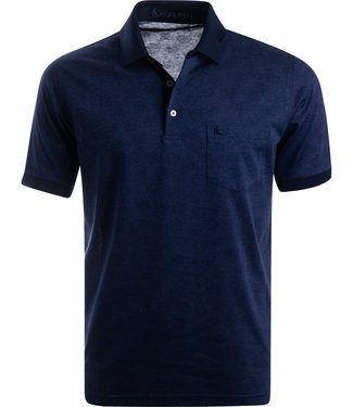 FORMEN donkerblauwe polo in jersey