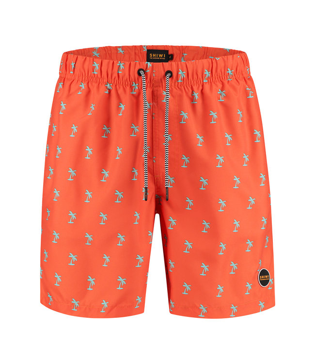 FORMEN zwemshort oranje met print