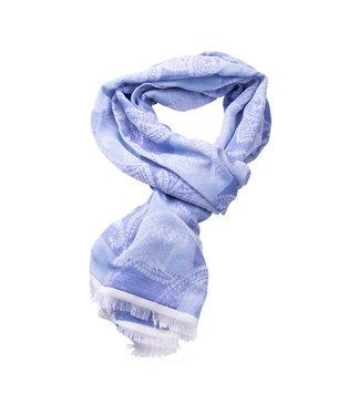 FORMEN Fijne sjaal met blauw dessin
