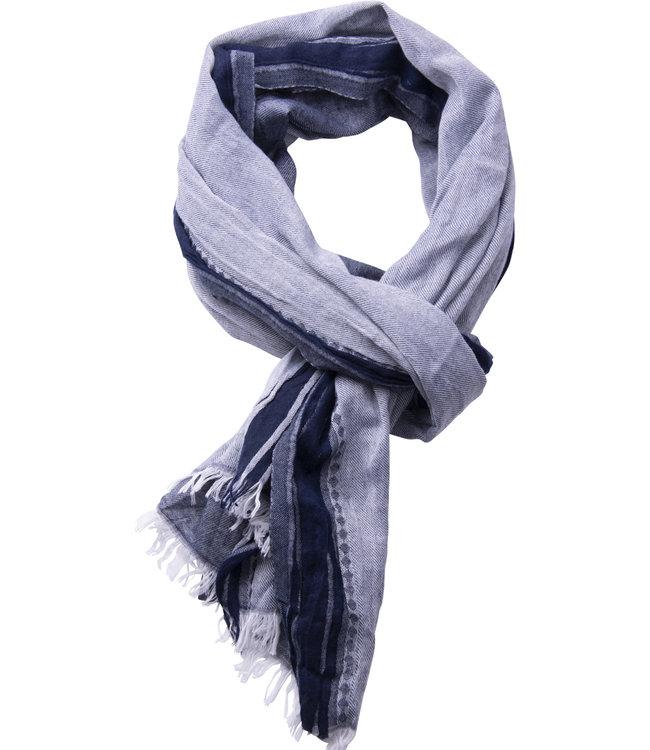 FORMEN herensjaal woven donkerblauw