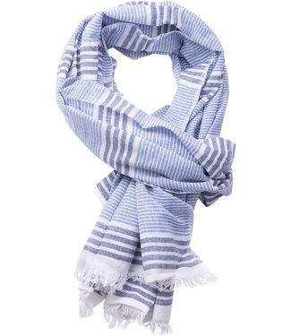 FORMEN blauw gestreepte sjaal