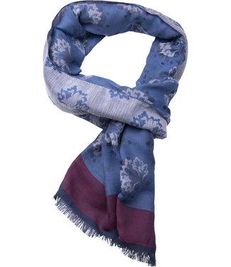 FORMEN blauwe sjaal met motief