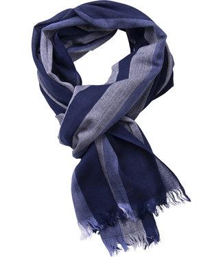 FORMEN donkerblauwe gestreepte sjaal