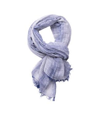 FORMEN gestreepte sjaal jeansblauw