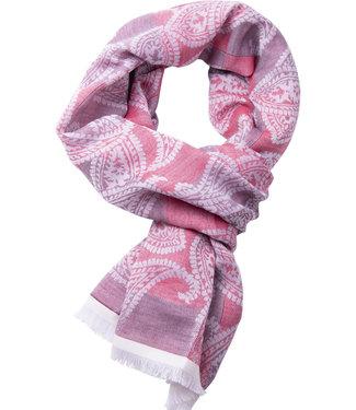 FORMEN rode sjaal paisley dessin