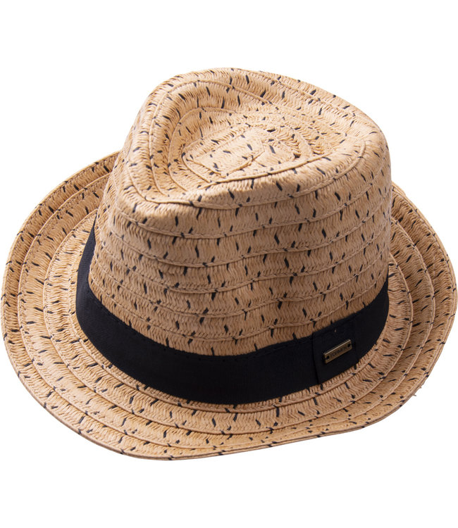FORMEN zomerse hoed met zwart lint