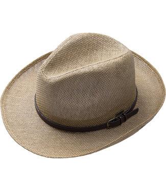 FORMEN rieten hoed met riem