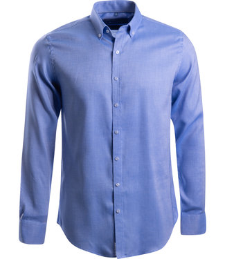 FORMEN stijlvol blauw Oxford shirt