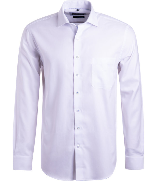 FORMEN chic wit hemd fijne structuur