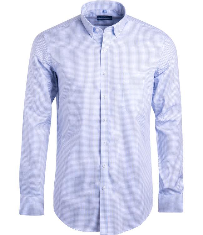 FORMEN SLIM fit vichy geruit hemd
