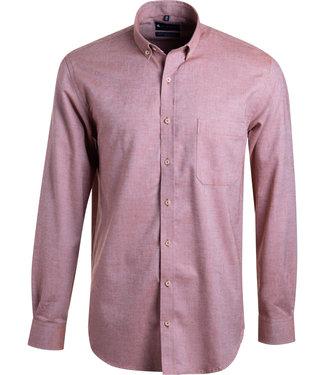 FORMEN woven shirt in effen roest
