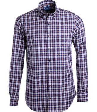 FORMEN SLIM fit shirt met ruiten
