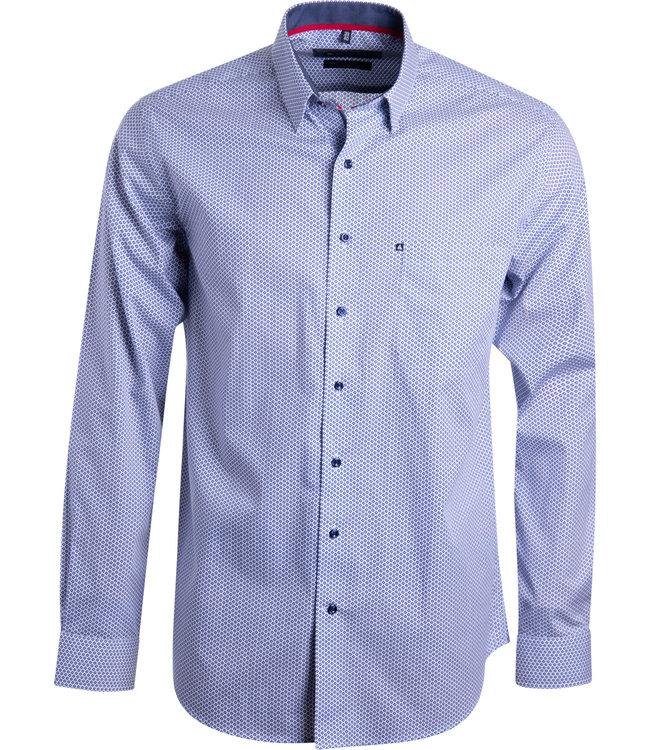 FORMEN overhemd met blauw motief