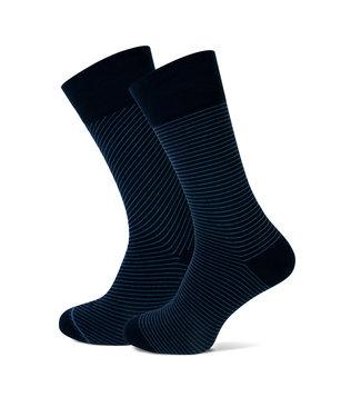 FORMEN navy sokken streep duopack = 2 paar