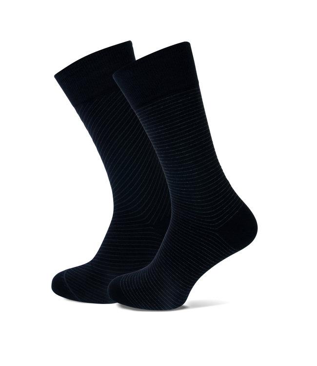 FORMEN zwarte sokken streep duopack = 2 paar