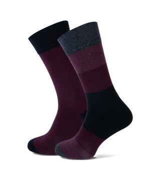 FORMEN bordeaux sokken duopack = 2 paar