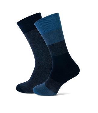 FORMEN blauwe sokken duopack = 2 paar
