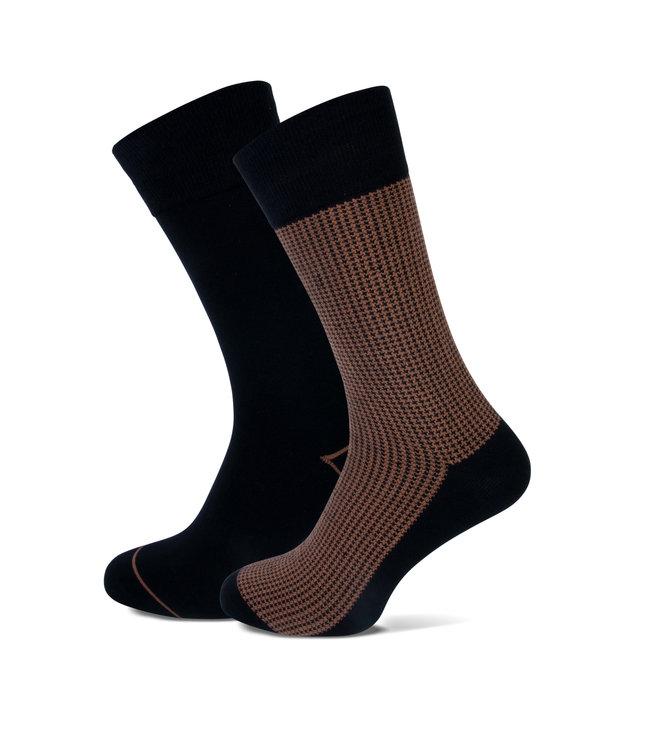 FORMEN camel sokken duopack = 2 paar