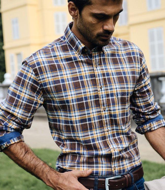 FORMEN casual flanel hemd met grote ruit