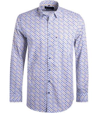 FORMEN kleurrijk hemd met oker accent