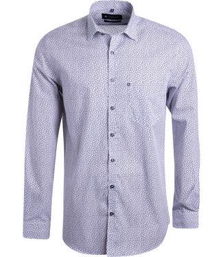 FORMEN zwart wit hemd met print