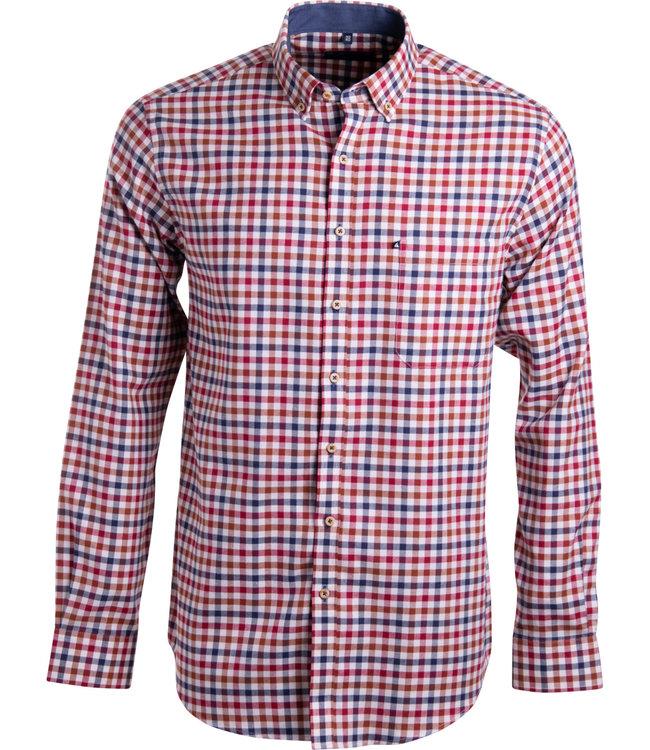 FORMEN rood en blauw geruit hemd