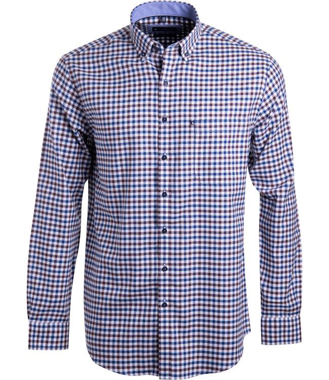 FORMEN casual shirt met vichy ruit