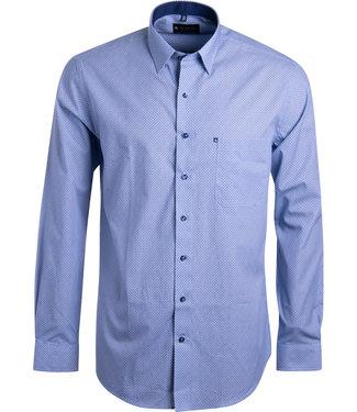 FORMEN knap blauw printhemd