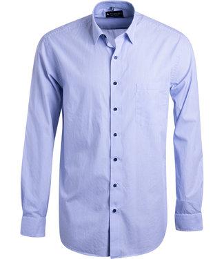 FORMEN lichtblauw gestreept hemd