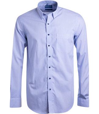 FORMEN SLIM lichtblauw gestreept hemd