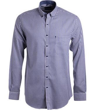 FORMEN donkerblauw geruit hemd