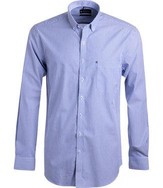 FORMEN blauw gestreept hemd