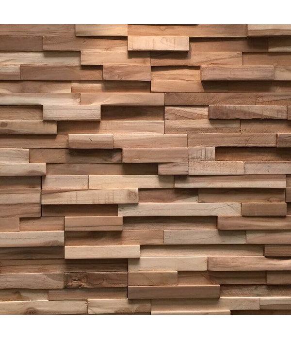 Rebel of Styles Plaquette de parement bois recyclé UltraWood Teak Firenze