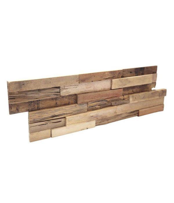 Rebel of Styles Holzverblender UltraWood Teak Colorado 3D Wood Panel