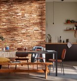 Rebel of Styles Houtstrip 3D Woodpanel UltraWood Teak Colorado