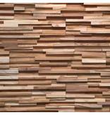 Rebel of Styles Houtstrip 3D Wood Panel UltraWood Teak Toscani