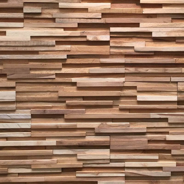 Holzverblender UltraWood Teak Toscani 3D Wood Panel