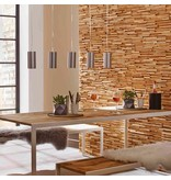Rebel of Styles Holzverblender UltraWood Teak Toscani 3D Wood Panel