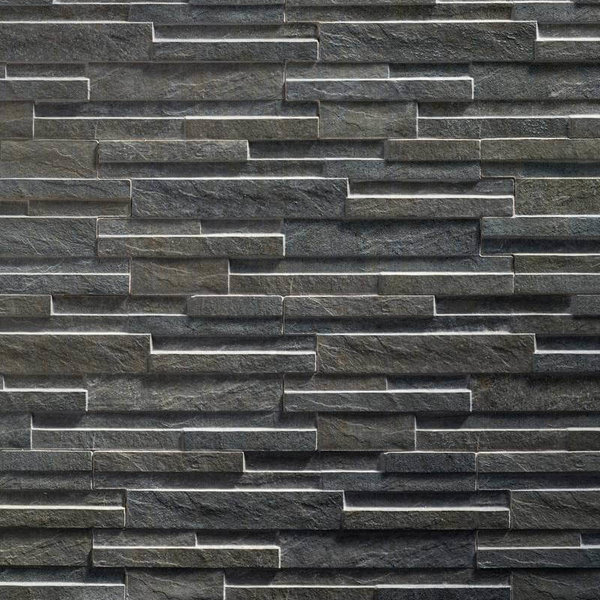 Ultrastrong Avella Anthracite Stone Effect Porcelain Wall Tile