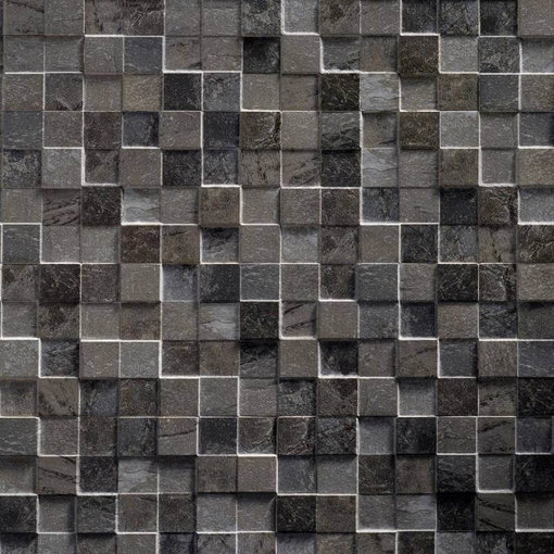 Klimex Ultrastrong Square Stone Anthracite Effect Porcelain Wall & Floor Tile