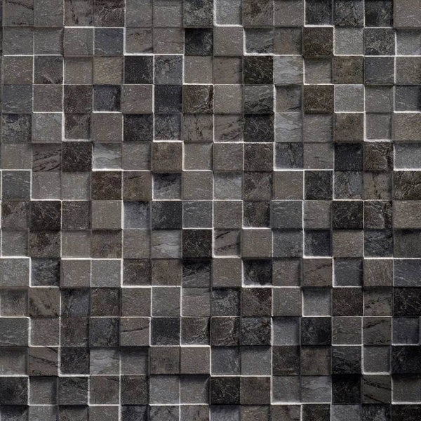 Ultrastrong Square Stone Anthracite Effect Porcelain Wall & Floor Tile