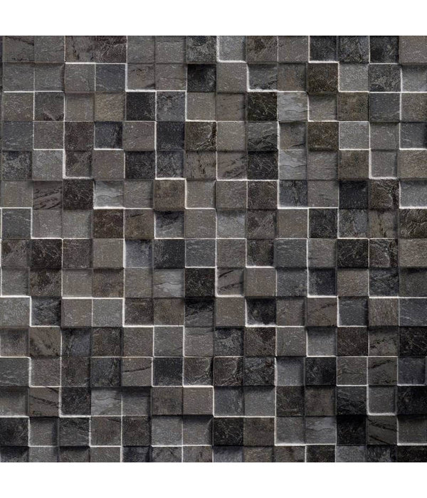 Klimex Ultrastrong Square Anthracite Stone Effect Porcelain Wall & Floor Tile