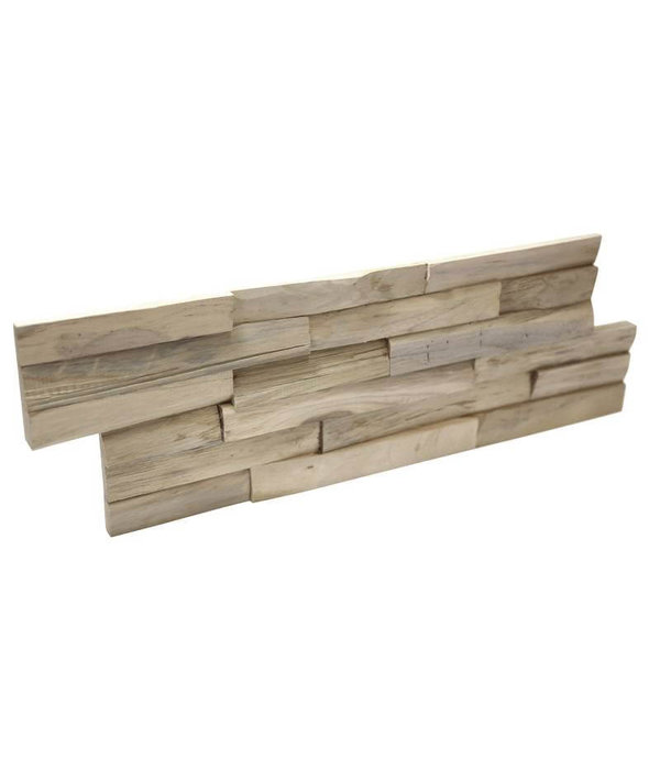 Rebel of Styles Holzverblender UltraWood Teak Benevento 3D Wood Panel