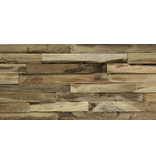 Rebel of Styles Houtstrip 3D Woodpanel Rough BN-Geen FSC!