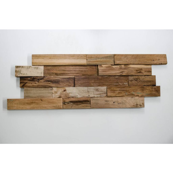 Teak Wood panel 3D Ultrawood Teak Lock Naturel