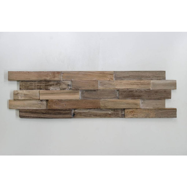 Teak Wood panel 3D Ultrawood Teak Lock Smoke