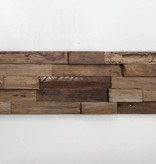 Rebel of Styles Plakhout - Houtstrip 3D Woodpanel Lock Charred