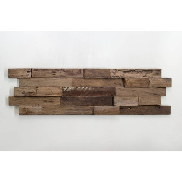 Teak Wood panel 3D Ultrawood Teak Lock Charred