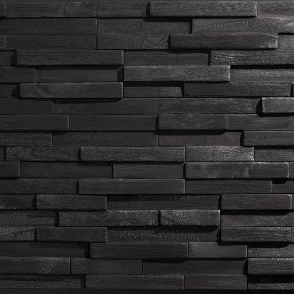 Plaquette de parement bois recyclé UltraWood Yakisugi
