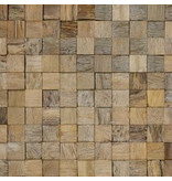 Rebel of Styles Houtstrip 3D Woodpanel Cubes Natural